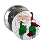 """Santa Clause Christmas 2.25"""" Button (10 pack)"""