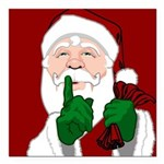 Santa Clause Christmas Square Car Magnet 3