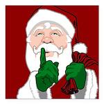 "Santa Clause Christmas Square Car Magnet 3"" x 3"""