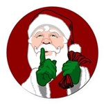 Santa Clause Christmas Round Car Magnet