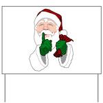 Santa Clause Christmas Yard Sign