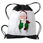 Santa Clause Christmas Drawstring Bag