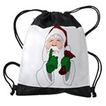 Santa Clause Christmas Drawstring Bag