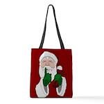 Santa Clause Christmas Polyester Tote Bag