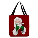 Santa Clause Christmas Polyester Tote Bag