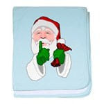 Santa Clause Christmas baby blanket