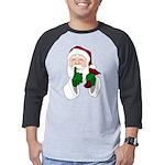 Santa Clause Christmas Mens Baseball Tee