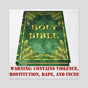 Bible Warning Queen Duvet