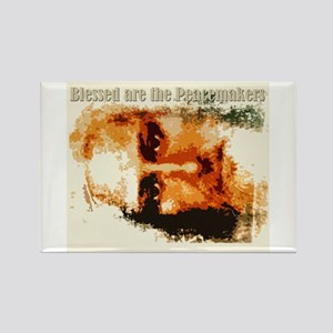 Blessed are the Peacemakers Rectangle Magnet