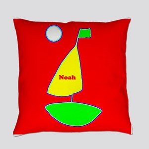 Sailing Sailboat Red Yellow Green Everyday Pillow