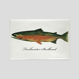 Freshwater Steelhead Trout Rectangle Magnet
