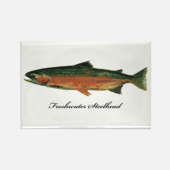 Freshwater Steelhead Trout Rectangle Magnet (100 p