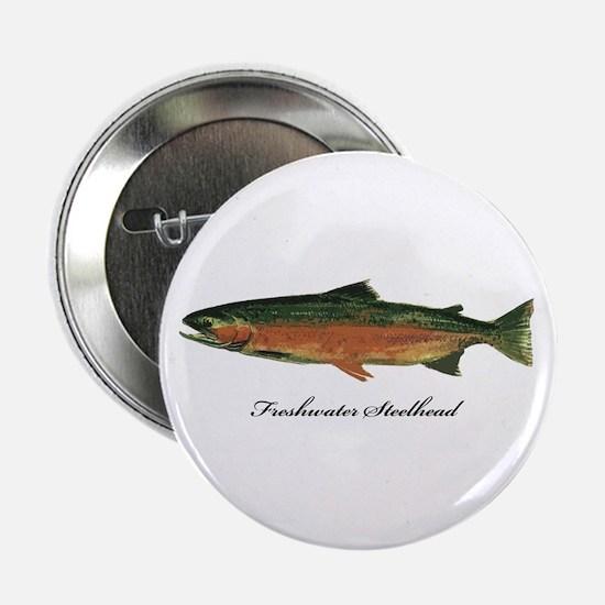 """Freshwater Steelhead Trout 2.25"""" Button"""