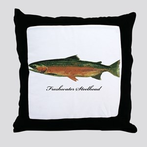 Freshwater Steelhead Trout Throw Pillow