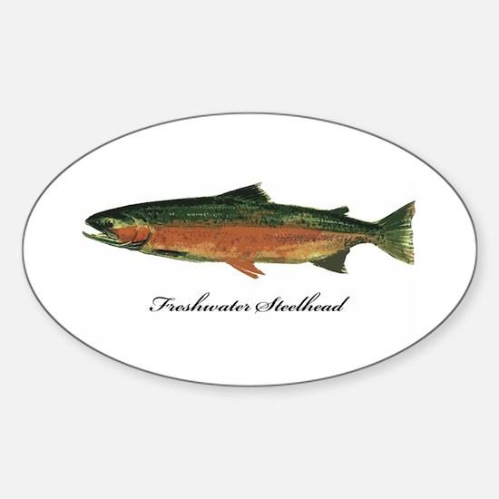 Freshwater Steelhead Trout Oval Decal