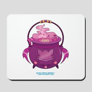 Halloween Cat Cauldron Mousepad