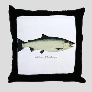 Coho Silver Salmon Throw Pillow