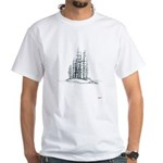 Forest Island Sketch White T-Shirt