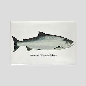 Chinook King Salmon Rectangle Magnet