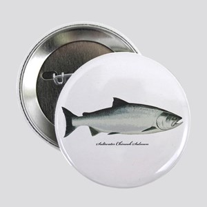 "Chinook King Salmon 2.25"" Button"