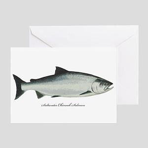 Chinook King Salmon Greeting Card