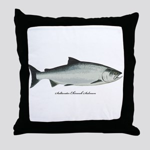 Chinook King Salmon Throw Pillow
