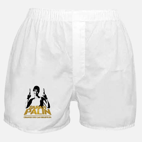 PALIN - CHANGE YOU CAN BELIEVE IN Boxer Shorts
