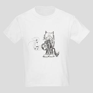 French Horn Cat Kids Light T-Shirt