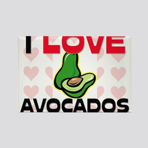 I Love Avocados Rectangle Magnet