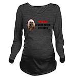 Afghan Hound Long Sleeve Maternity T-Shirt