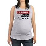 Afghan Hound Maternity Tank Top