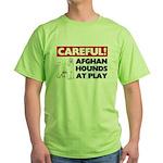 Afghan Hound Green T-Shirt