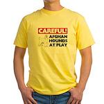 Afghan Hound Yellow T-Shirt