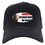 Afghan Hound Black Cap with Patch