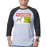 Airedale Terrier Mens Baseball Tee