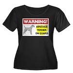 Airedale Terrier Women's Plus Size Scoop Neck