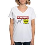Airedale Terrier Women's V-Neck T-Shirt