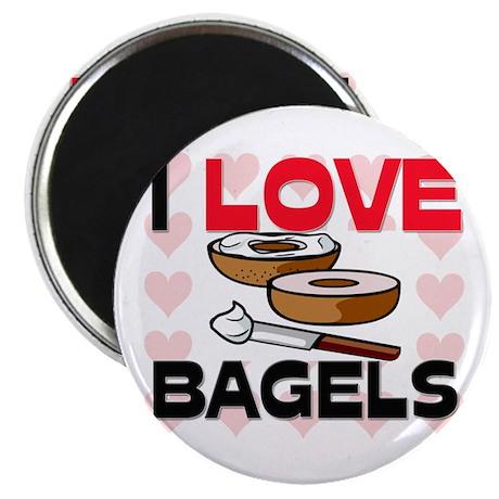 I Love Bagels Magnet
