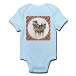 Alaskan Malamute Gifts Baby Light Bodysuit