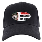 Alaskan Malamute Gifts Black Cap with Patch