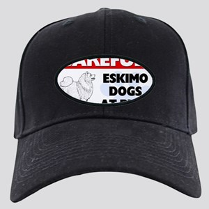 American Eskimo Dog Gifts Black Cap with Patch