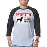 American Pit Bull Terrier Mens Baseball Tee