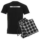 American Pit Bull Terrier Men's Dark Pajamas