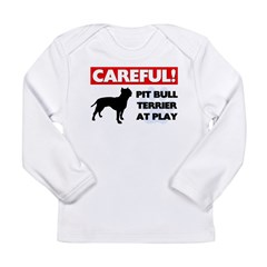American Pit Bull Terrier Long Sleeve Infant T-Shi