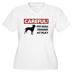 American Pit Bull Terrier Women's Plus Size V-