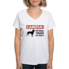 American Pit Bull Terrier Women's V-Neck T-Shi