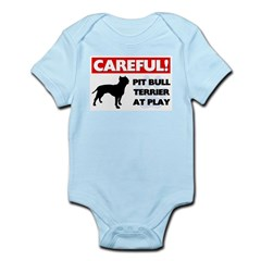 American Pit Bull Terrier Baby Light Bodysuit