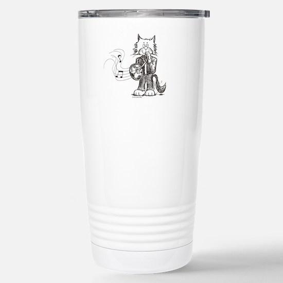 CatoonsT French Horn Cat Stainless Steel Travel Mu