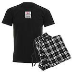Bearded Collie Gifts Men's Dark Pajamas