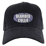 Bearded Collie Gifts Black Cap with Patch